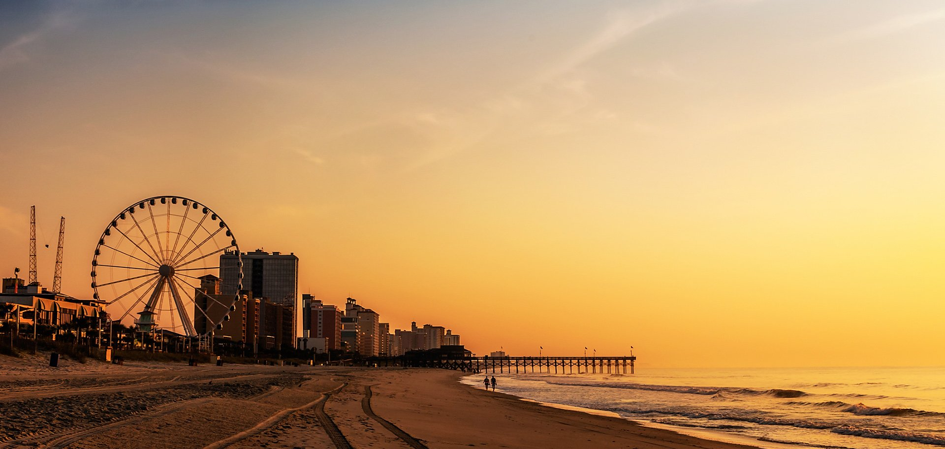 sunset in myrtle beach
